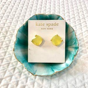 Kate Spade Yellow Gemstone Stud Earrings